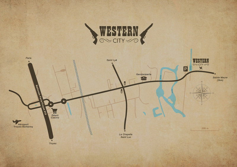 Plan acces Western City